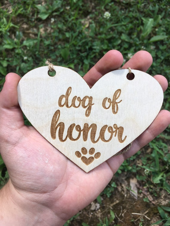 SMALL dog LASER ENGRAVED dog of honor sign My humans are getting married dog puppy sign - Dog Sign Engagement Photo Prop - mommy and daddy