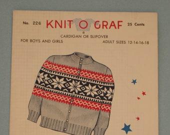 Knit o graf cardigan | Etsy