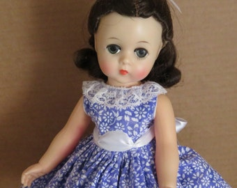 Doll Dress for MA Lissy 12 inch Vintage or Modern Violet with Lace Collar