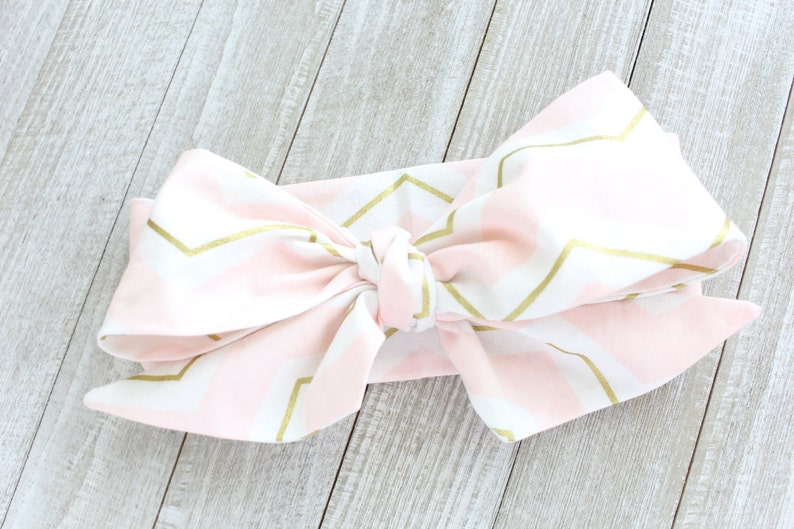 Hair Scarf Baby Turban Blush Zag Wrap Baby Headwrap Photo Prop Knotted Big Bow Toddler Infant Baby Shower Gift Newborn Headband