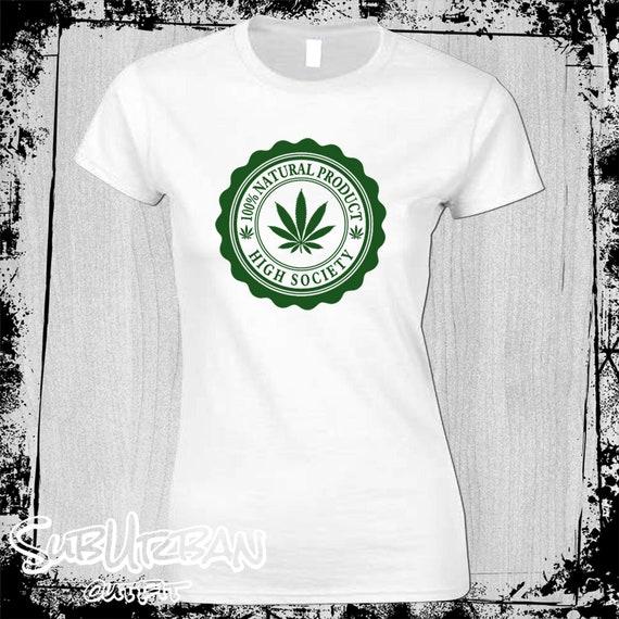 Cannabis High Life Drugs Men/'s T-Shirt Weed Smoke Marijuana High Society Rasta