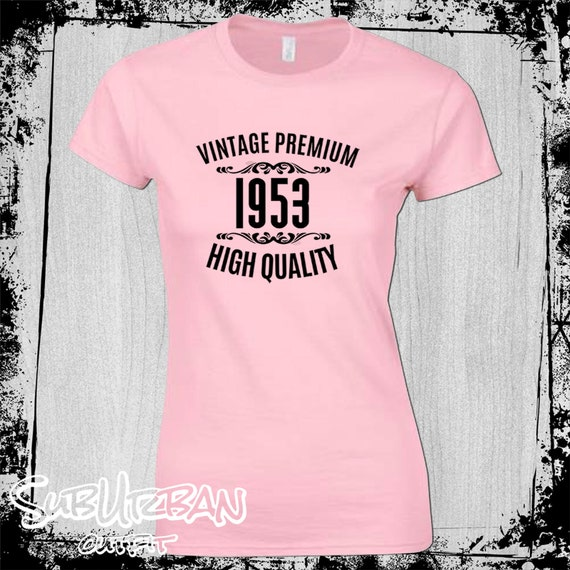 2523c33d 65th Birthday Gift for Women's T-Shirt Vintage 1953 High | Etsy