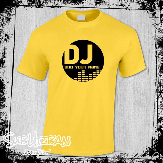 Men/'s Personalised DJ Logo ADD YOUR NAME Music T Shirt Ibiza House Party #4