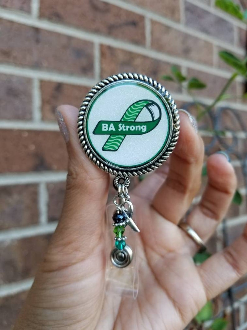 Brain cancer Awareness Bottle Cap Retractable Badge ID Holder