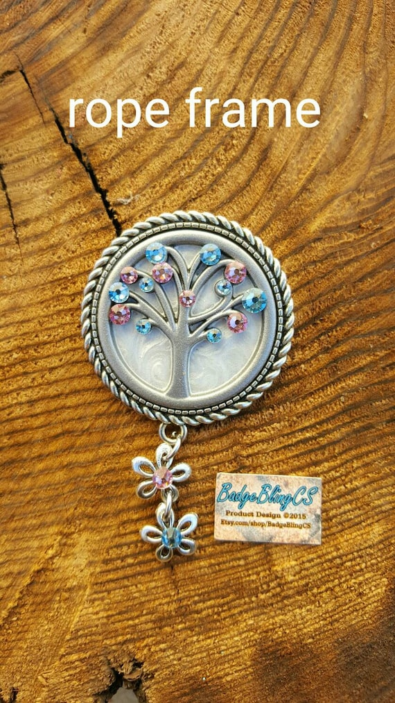 Labor And Delivery Nurse Id Badge Holder Clip Tree Of Life Etsy