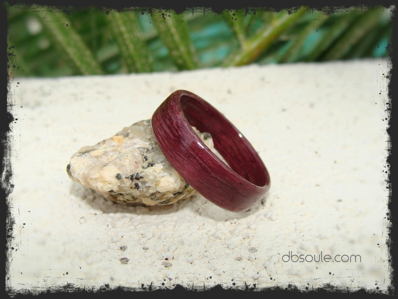 Purple Bentwood Ring Purple Ring Purpleheart Bentwood Ring Purpleheart Wood Ring Purpleheart Ring Purple Wood Ring