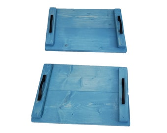 Plate Charger Pair Sky Blue Stain