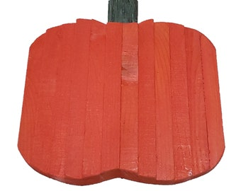 Pumpkin Decor Roughsawn Hand Carved