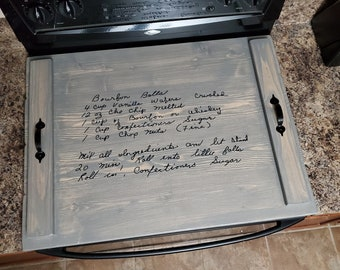 Recipe Stove Top Cover with Customer Provided Text