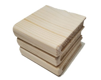 Mini Book Wood Blank DIY Tiered Tray Decor