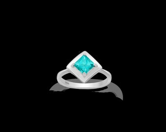 925 Sterling Silver Ring With Topaz | Rhodium Plated Silver Ring | Gift for Women | Birthday Gift | Gift For Graduation| Free Shipping