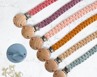 Gender Neutral Baby Shower Gift Custom Clips Bohemian Dummy Clip Handmade Boho Macrame Boho Nursery Boho Macrame Pacifier Clip