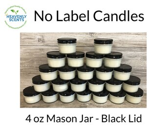 No Label Candles   Soy Wax   24 pack   Vegan   Wholesale Candles   Private Labels   Fall
