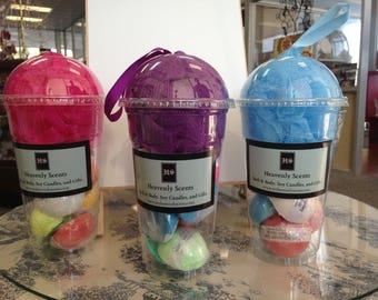 Milkshake Cup FIZZY BATH BOMBs Gift Various Lush Type Bath Bomb Fizzies - Loofah