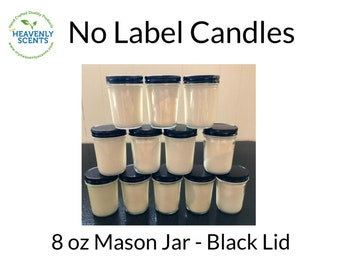 No Label Candles | Soy Wax | 12 pack | Vegan | Wholesale Candles | Private Labels | Customized