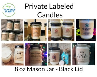 Private Label Candles | Wholesale Candles | Bulk | Soy Wax Candles | 12 pack | Vegan | Customized