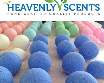 1.00 Vegan, Cruelty Free Bath Bombs By Heavenly Scents Choose Your Fragrances - 2 ounces each