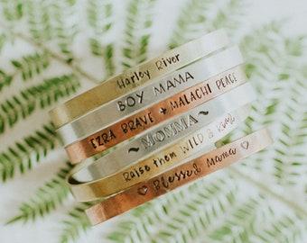 Stocking Stuffers Slider Bracelet Hand Stamped Custom Bracelet Gifts for Her Femenist Bolo Christmas Gift Ideas Personalized