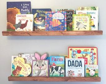 Floating Bookshelf Reclaimed Wood Wooden Childrens Home Decor Farm House