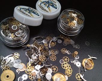 Small Gears For Creative work. Craft, Scrapbooking, Decorating, Steampunk. 3 ml, 5 ml jar