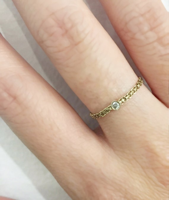 Dainty Double Chain Ring