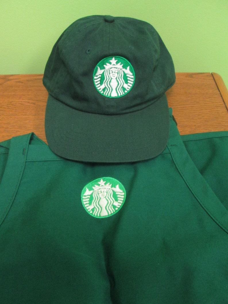 New Logo Starbucks barista apron and hat setboth adjustable  e62bcdc86a35