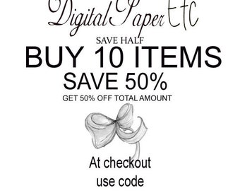Save money with coupon codes  Buy 10 items and get 50% off