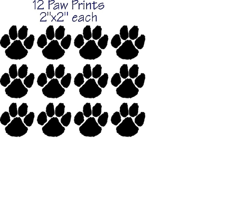 6edd90d25eb0 Dog Cat Paw Prints Vinyl Sticker Decal Window Car Made in the   Etsy