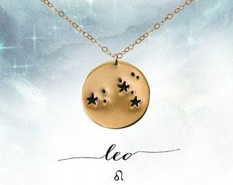 LEO LOCKET leo star sign locket  celestial  inspirational  leo constellation  personalised custom necklace  zodiac star sign astrology