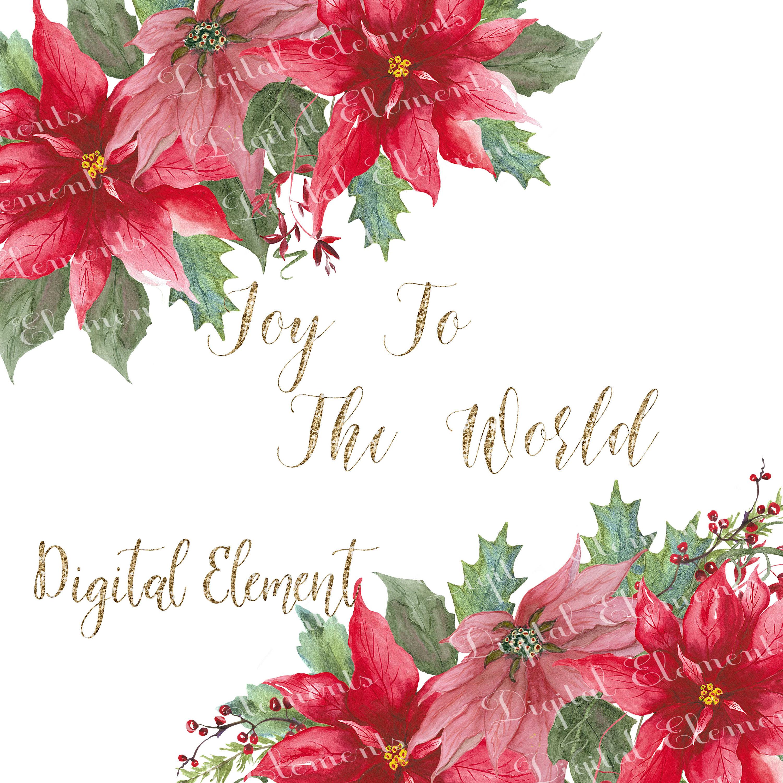 Poinsettia Clip-art Christmas Clip-art Watercolor