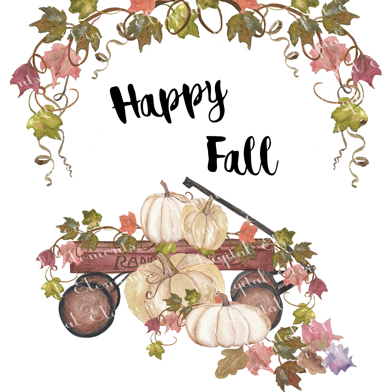 Fall Clip-art Pumpkins Clip-art Watercolor Thanksgiving | Etsy