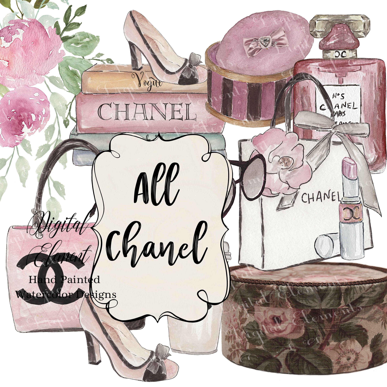 Chanel digitale ClipArt Aquarell ClipArt ClipArt Damen   Etsy