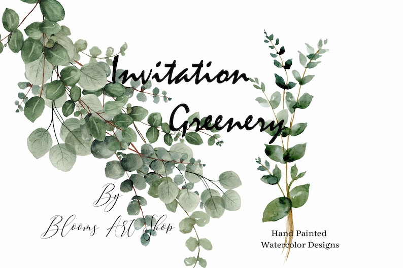 Wedding greenery clipart-eucalyptus greenery clip-art and image 0