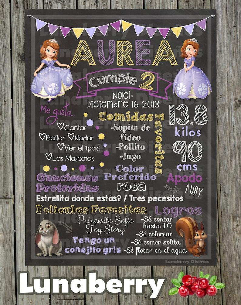 Blackboard  Whiteboard in birthday Princess Sofia  Sofia the First Birthday Chalkboard