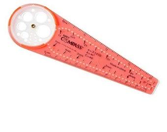 Compass, geometry, circle maker, circles, drawing tool, ruler