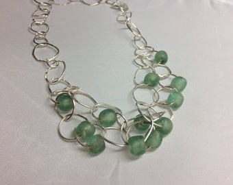 Sea Sprite Sterling and glass necklace