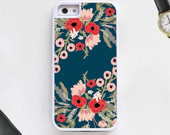 Vintage hipster flower garden pink red blue / Floral Cell Phone Case iPhone & Android Protective iPhone 6 iPhone 5 Galaxy s4 s5 Note4 Note5