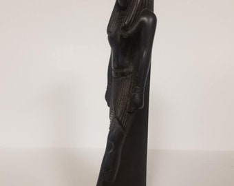 Vintage Heavy  Egyptian God Thoth Collections  stone Made in Egypt and signed by the original Egyptian Artist