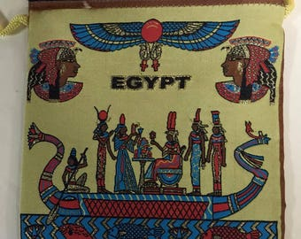 Unique Handmade  Canvas Egyptian Tote Shoulder Shopping Bag Made In Egypt