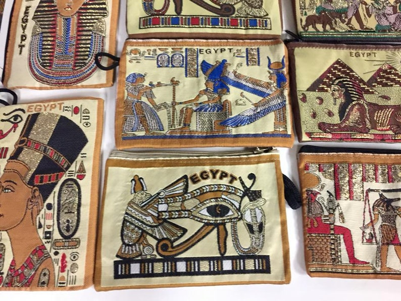 Unique 10  Egyptian wallet or Cell Phone Case Made In Egypt
