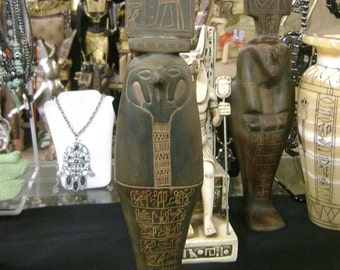 Antique Museum Egyptian God Horus Statue Hand Carved natural stone Mad in Egypt