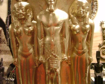 large Old Statue of Ancient Egyptian Triad of King Menkaure MADE IN EGYPT