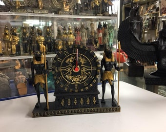 Amazing Unique Egyptian  God Anubis  Clock