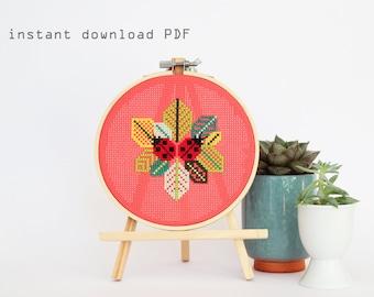 Little Ladybugs - Modern counted cross stitch pattern - Instant download PDF - counted cross stitch pattern