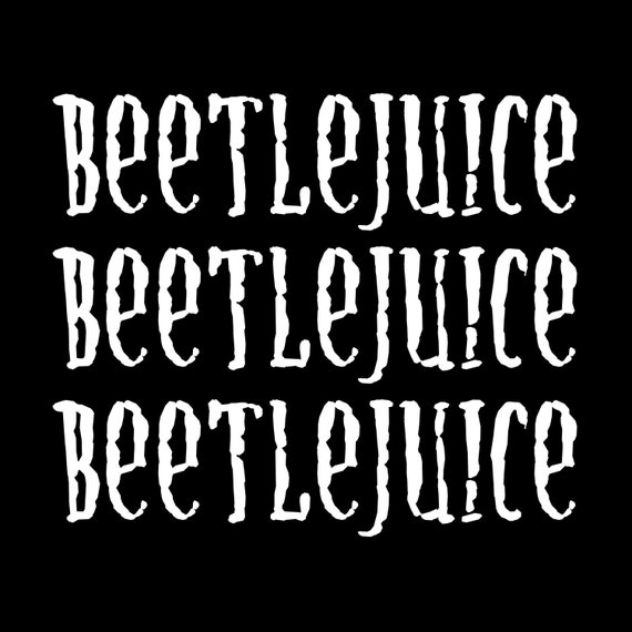 Beetlejuice Vinyl Decal Sticker Free Shipping Etsy