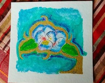 Viola Twins Watercolor