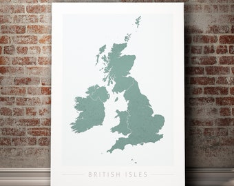Map Of Uk For Printing.Uk Map Etsy