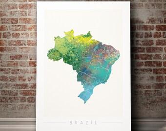 Brazil map | Etsy