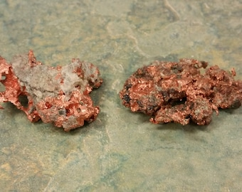 2 Copper Chunks - Rough - The Weight is 30 Grams