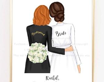 Bridesmaid proposal card, matron of honor card, Maid of honor gift, asking bridesmaid, thank you mother of the bride, bridal party keepsake